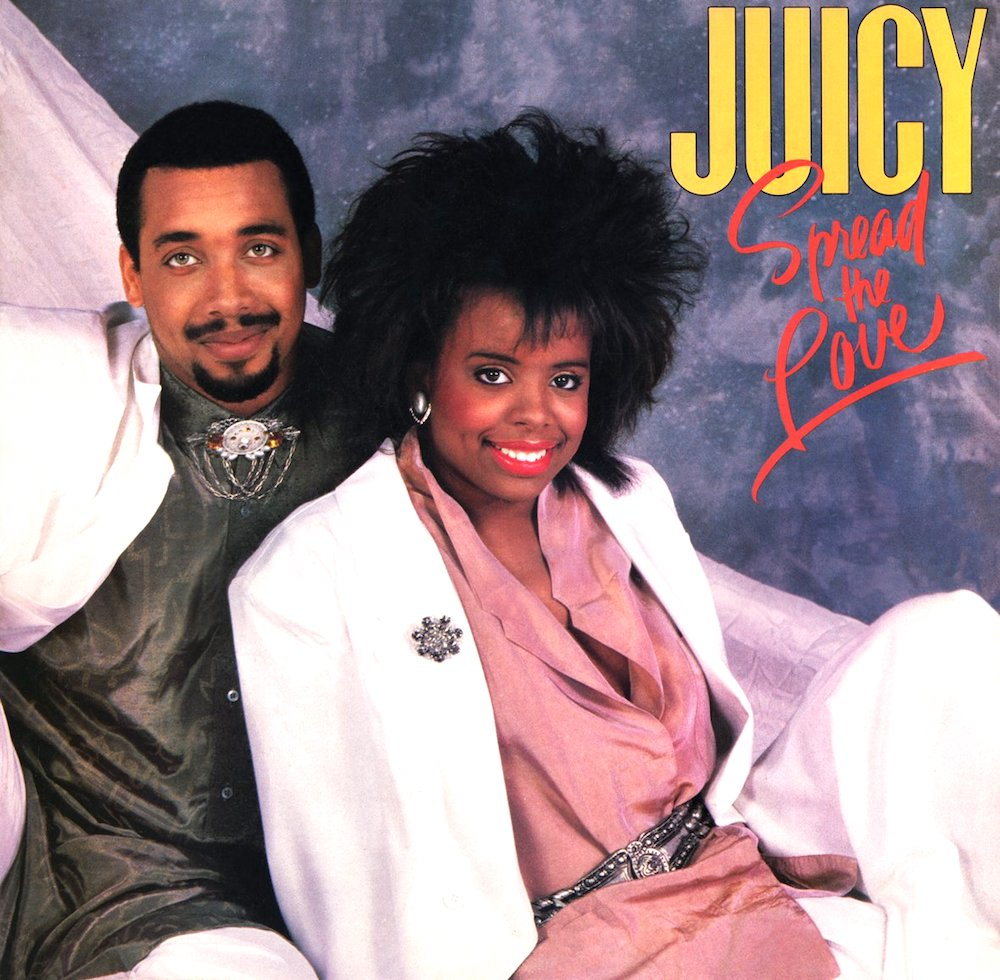 Juicy's 1987 'Spread The Love' album cover