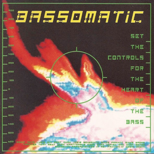 Bassomatic's 1990 'Set The Controls For The Heart Of The Bass' album cover