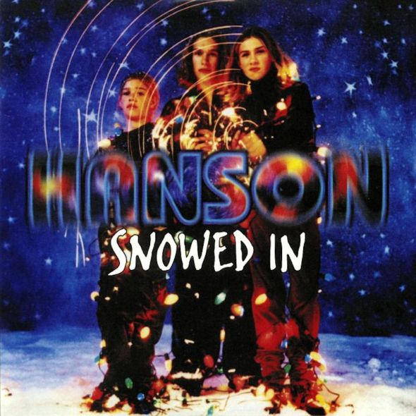 Hanson's 1997 'Snowed In' Christmas album cover