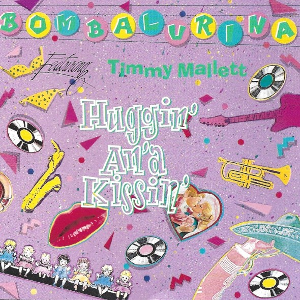 Bombalurina featuring Timmy Mallett album 'Huggin' An'a Kissin' from 1990 cover